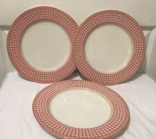 "Lot 3 ROYAL DOULTON PROVENCE ROUGE PLAID 11"" DINNER PLATE(S) -"