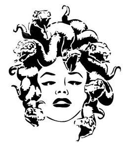 high detail airbrush stencil MEDUSA   FREE UK  POSTAGE