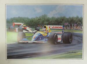 Nigel Mansell Williams Renault  leads Ayrton Senna British Grand Prix 1991