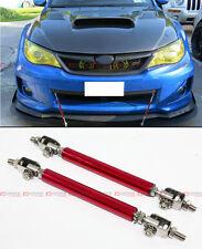 Red Adjustable Front Bumper Lip Splitter Strut Rod Tie Support Bar For Nissan