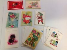 18 Assorted Vintage Christmas Greeting Cards with Matching White Envelopes