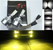 LED Kit C6 72W H7 3000K Yellow Two Bulb Fog Light Replacement Lamp Upgrade Stock