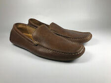 Men's 1901 Coronado Brown Driving Slip On Loafers Size 10 M12811