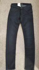 Lee Women's LUKE Slim Tapered  L719AAEC Jeans BLACK  W26 L32 NEW