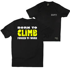 Fb Rock Climbing Tee - Born To Climb - Novelty Dry Fit Performance T-Shirt