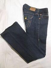 (*-*)  TRUE RELIGION * Womens Stretch Bootcut Blue Jeans / Denim * Size 28