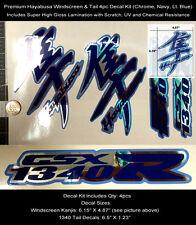 GSXR Hayabusa Kanji & Tail Decal Kit 4pcs Windscreen Tail Chrome Laminated 0122