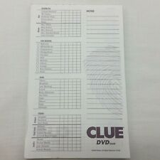 Clue DVD Game Replacement Cluepad Note Pad 2006 Hasbro Scorepad Detective Paper