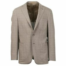 NWT CARUSO Light Brown Wool Blend 3 Roll 2 Button Sport Coat 50/40 R Drop 8
