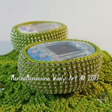 Tamagotchi m!x mix 4u idl p's case crochet with beads green