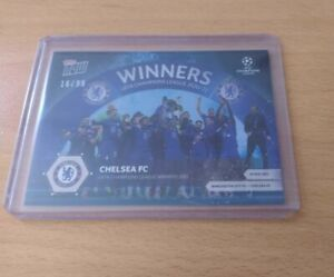 CHELSEA FC UEFA CHAMPIONS LEAGUE WINNERS  BLUE PARALLEL 16/99 - TOPPS NOW 20/21
