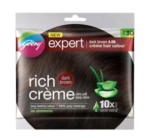 4 X Godrej Expert Rich Creme Dark Brown 4.06 Hair Color ( 20 gm + 20 ml )