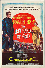 "Poster The Left Hand of God 1955 27""x41"" VF 7.0 Humphrey Bogart Gene Tierney"