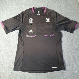 Adidas Mens MEDIUM adult Soccer Jersey Black Football Referee Adult Size M