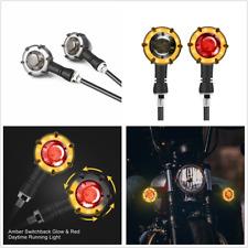 2 IN 1 Motorcycle LED Flowing Turn Signal Light Blinker Indicator Brake Lamp 2x