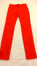 HOLLISTER WOMENS RED ORANGE TIE DYE CASUAL SKINNY SPANDEX PANTS SIZE 23 / 00