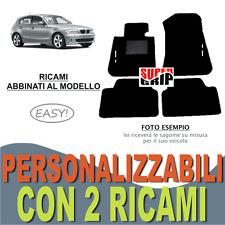 PER BMW SERIE 1 E87 TAPPETI AUTO SU MISURA MOQUETTE FONDO GOMMA + 2 RICAMI EASY