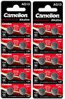 20 Knopfzellen Uhrenbatterien Knopf Zellen Camelion AG13  LR44 L 1154 157 G13 GP