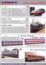 LS Models Koln Messe Toy fair DB ET403 railcar E 310 Sleeper car WLABm CFF RAe