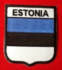 ESTONIA ESTONIAN NATIONAL COUNTRY FLAG BADGE IRON SEW ON PATCH CREST SHIELD