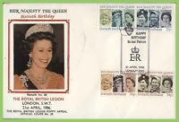 G.B. 1986 QEII 6oth Birthday set on British Legion First Day Cover, London