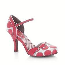 New! Ruby Shoo Pumps PHOEBE Koralle / Coral, Retro Vintage Look Gr. EU 39 / UK 6