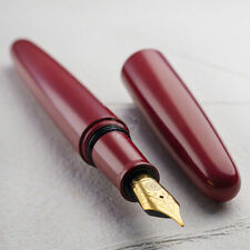 Wancher Dream Pen Ebonite Red Fountain Pen Cigar type , Converter refill