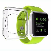 For All Apple Watch Series 1/2/3 Screen Protector & Clear Gel Case
