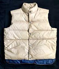 Vintage - Puffer Down Vest WEAR-GUARD - Snap-Front - L Beige NWT Pockets WARM