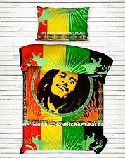 Smiling Bob Marley Indian Handmade Duvet Cover Comforter Bedding With Pillow Set
