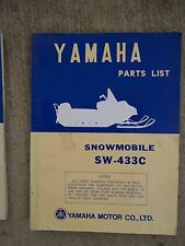 **1972 Yamaha SW-433C Snowmobile Illustrated Parts List MORE SNO-MO IN STORE  V