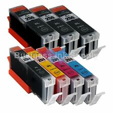 7+PACK CLI-251XL Ink Tank for Canon Printer PIXMA MG5520 MG7120 iP7220 CLI251XL