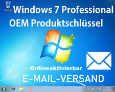 Microsoft Windows 7 Professional OEM Produktschlüssel / Key Onlineaktivierbar