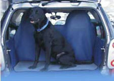smart fortwo (450) car boot liner in BLACK with dog blanket