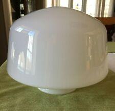 Vintage White Milk Glass Schoolhouse Ceiling Mount Shade