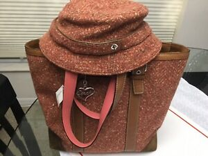 COACH Hamptons Huge TWEED BOOK TOTE,purse W Match HAT & Gift NWT + G.rcpt 560$