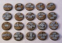 25mm round paved scenic resin bases X10 Wargames fantasy Sci-Fi  Daemonscape
