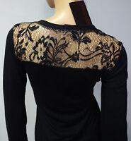 """FINAL SALE"" Roberto Cavalli lace black cardigan shirt blouse top sz S;M;L;XL"