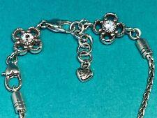 """🌸 Brighton """"May Flower"""" Swarovski Crystal Charm Bracelet (B6) 🌸"""
