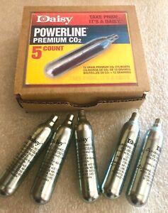 Daisy Powerline CO2 Cartridges / 5 Pack 12 Gram Cylinders - Hard Box