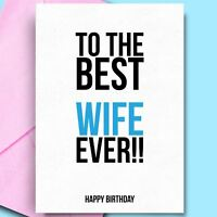 Birthday Card For Wife Funny Card for Girlfriend Adult Birthday Cards