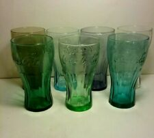 Vintage McDonalds Coca Cola Glasses 7 different colors
