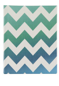 "Pinnacle Blue/ Grey Chevron Photo Album 2 Pack, Holds 144 - 4""x6"" Photos-B22"
