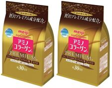 2 pack Meiji Amino Collagen Premium 214g Refill JAPAN 005