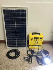 Solar backup power kit 12v 20w panel Off Grid led iphone USB battery System  10w
