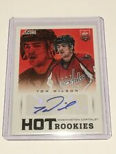 2013-14 Panini Score Hot Rookies Tom Wilson Rookie Autograph