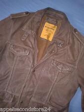 Milestone Lederjacke Lamm Leder Jacke Leather Jacket Jacket gefüttert Gr M 50 52