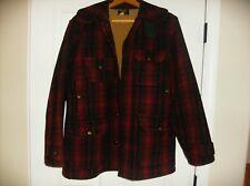 Woolrich  Wool Hunting Coat  #503 Red Black Plaid Size 40 Vintage