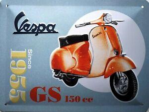 Vespa Bellisima 15x20cm Vintage Metal Steel Advertising Sign Plaque