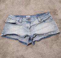 Topshop Moto Ladies Hot Pants Shorts Size 12 W30 Denim